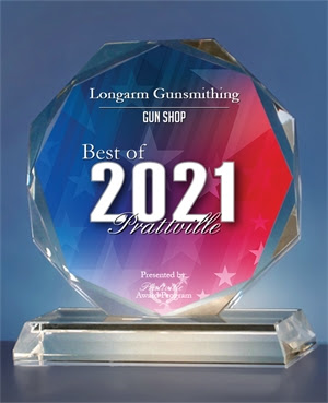 Best of 2021 - Longarm Gunsmithing Gun Shop Award