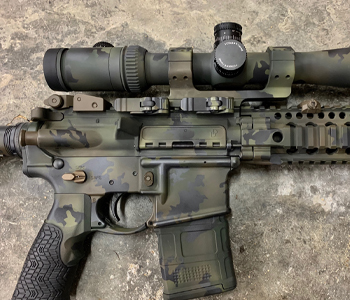 Rifle with Cerakote Gun Coating